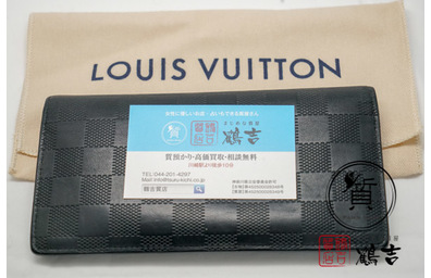 LOUIS VUTTION ルイヴィトン ダミエ・アンフィニ N63010 長財布​
